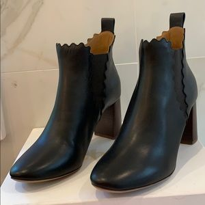 Chloe Black Ankle Boots